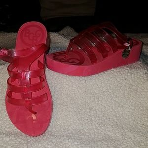 BCBGirls Pink Jelly Shoes Sz 6B